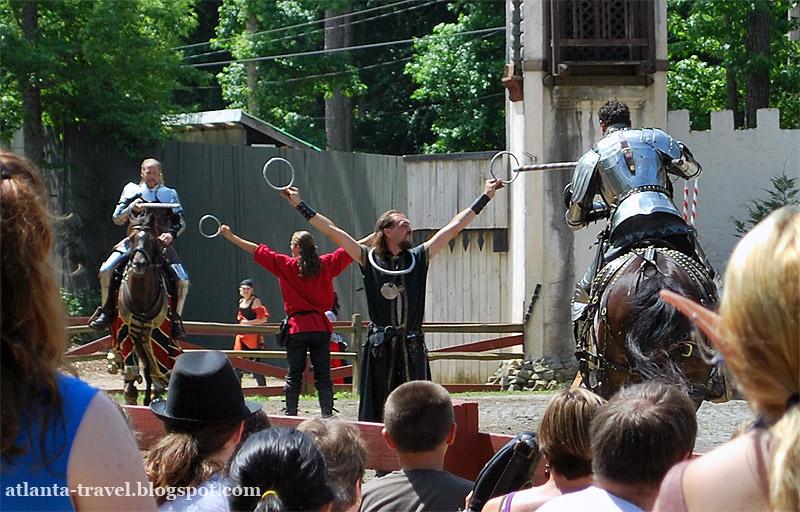 Рыцарский турнир - Renaissance Festival Joust.