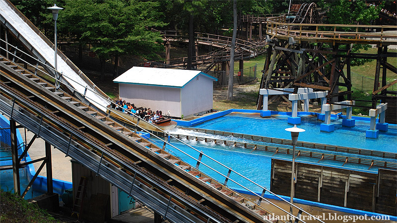 Как бороться с жарой? Six Flags Splash Water Falls!