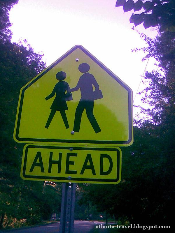 Разметка и дорожные знаки Атланта, Джорджия, США