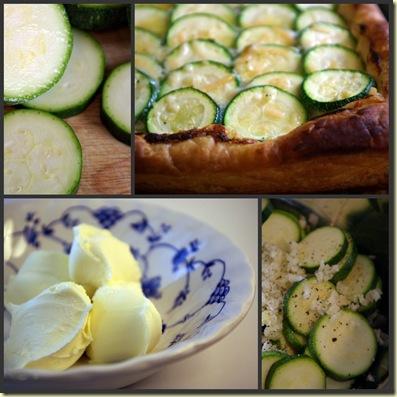 zucchini tart collage