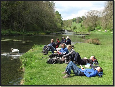 Lunch in Lathkill Dale
