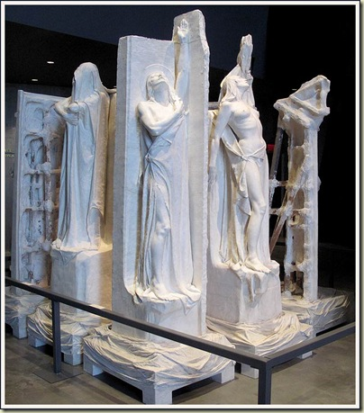 Some of Walter Allward's plaster sculptures