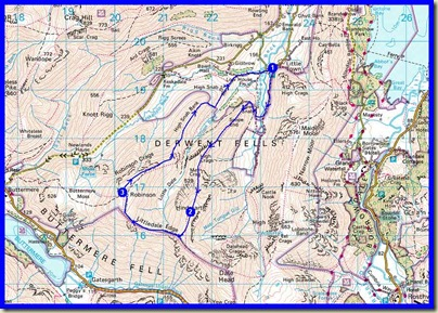 Our route - 11.5 km with 800 metres ascent in a very leisurely 6 hours