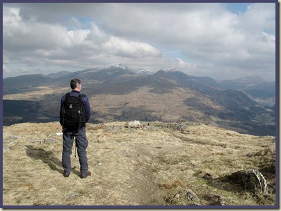 Looking back towards Beddgelert and Snowdon