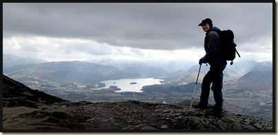 Graham admires the view towards Keswick and Derwent Water