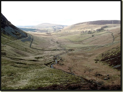 The glacial valley down which Dash Beck runs