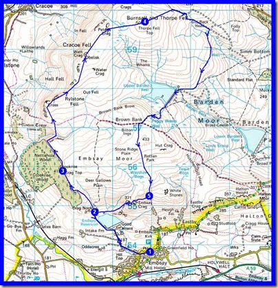 Tuesday 8 December 2009, 20 km (12 miles), 700 metres (2200 feet) ascent, 6.5 hours (400 minutes)