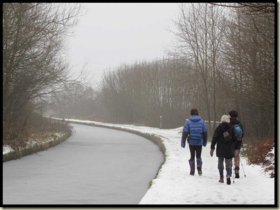 The Bridgewater Canal was very well frozen