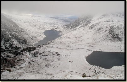 Looking down from the NE ridge of Y Garn