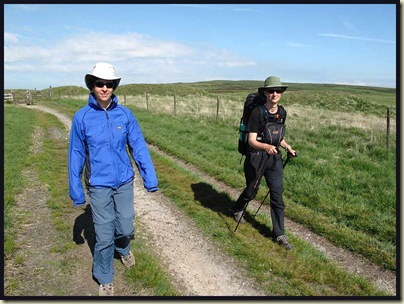 Sue and Gayle stride out from Standedge