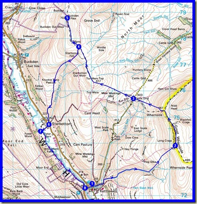 A circuit from Kettlewell - 20km, 800 metres ascent, 7 hours