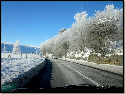 Returning home - hoar frost near Chesterfield