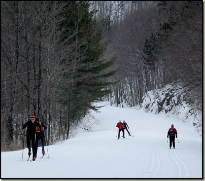 Skiers on Champlain Parkway - 28/1/11