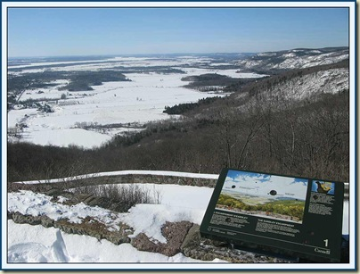 The view from Champlain Lookout - 3/2/11