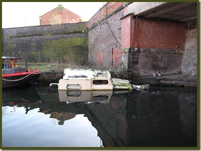 A distressed canal boat