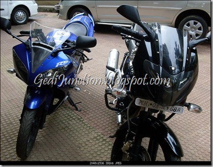 Pulsar 220 and Yamaha R15