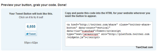 how to add tweet button to website