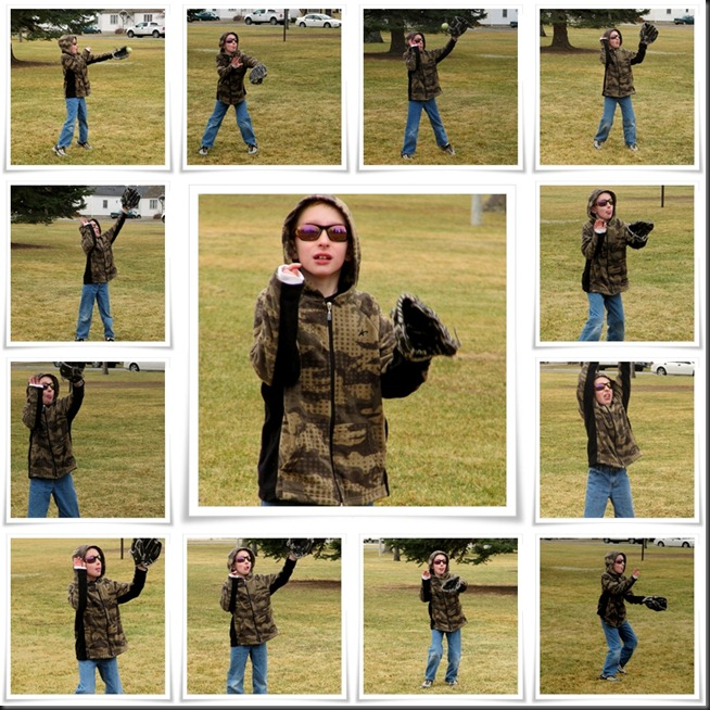 Playing Catch Collage