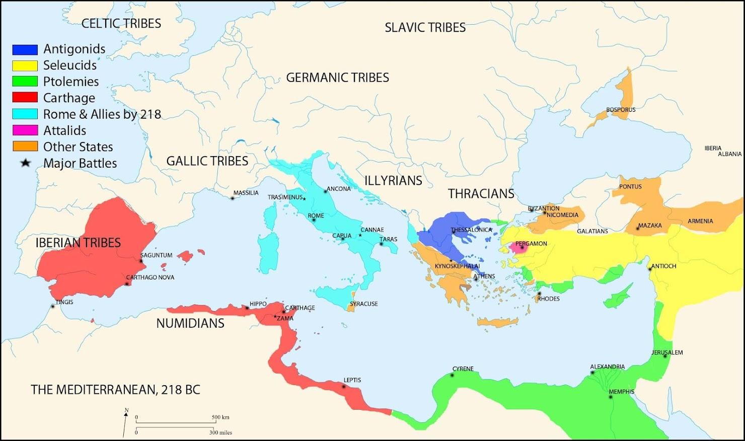 Resultado de imagen de El Mediterráneo a finales del siglo III a.C.