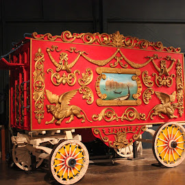 Circus Wagon 1 by William Holt - Artistic Objects Other Objects ( colorful circus wagon, circus wagon, colorful, wagon, circus,  )