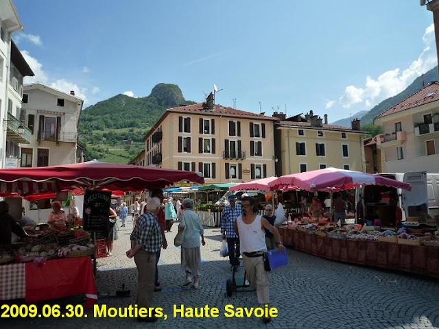 Moutiers market, France
