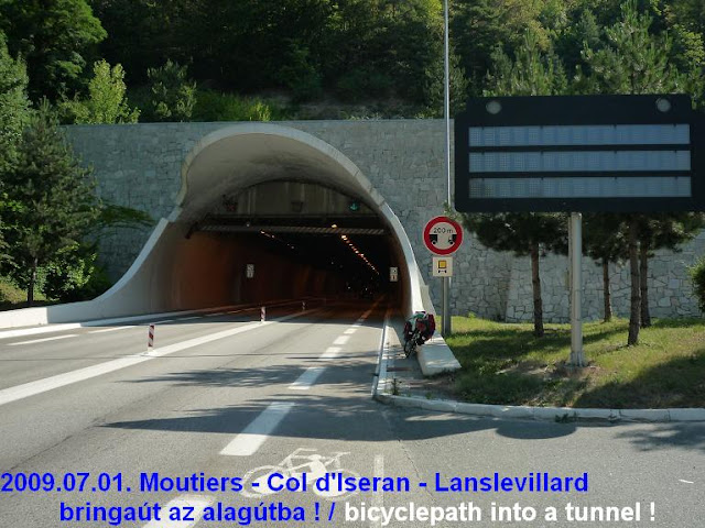 France, bicyclepath into a tunnel / main road