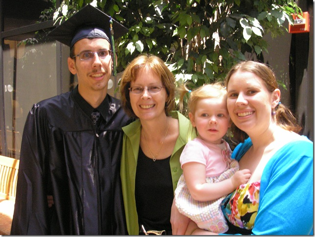 Uncle Robert, Oma, Kaitlyn (2 years) and Cyndi at Robert's graduation from UWF
