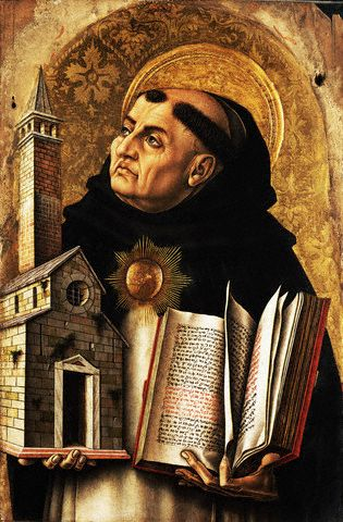 1476 --- St. Thomas Aquinas from <The Demidoff Altarpiece> by Carlo Crivelli --- Image by © National Gallery Collection; By kind permission of the Trustees of the National Gallery, London/CORBIS