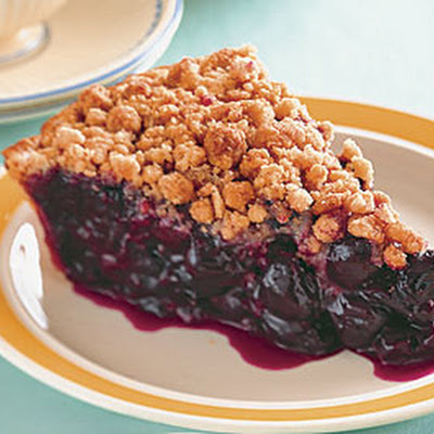 Sour-Cherry Streusel Pie