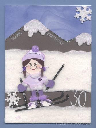 Paper Doll Skier