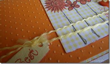 Best Wishes Orange Flowers Closeup
