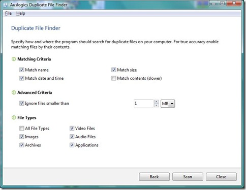 Auslogics Duplicate File Finder 2