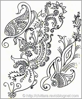 Free Hand Floral Drawing Design