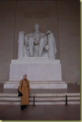 Pat and Lincoln statue