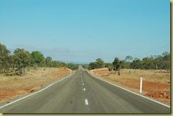 Long macadam road