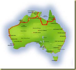 Australia Map Kalbarri
