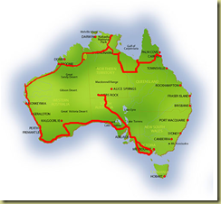 Australia Map Ayers Rock