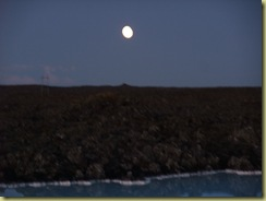 Moon over Blue Lagoon