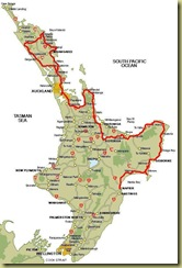 North Island to Napier