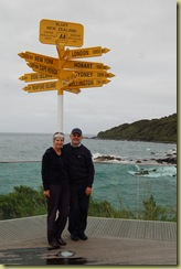 At the end of New Zealand