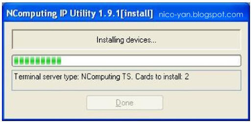 installing NComputing Ip address utility