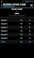 Screenshot of Boxing Score Card - Britboxing
