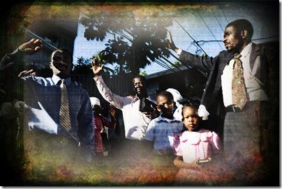 Praying Haitians