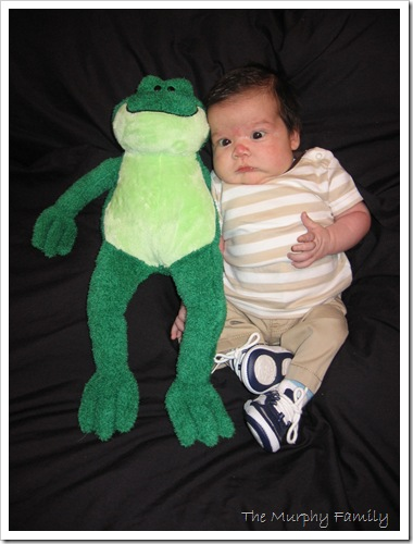 Patrick 1 Month Frog 2-19-15