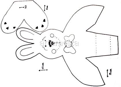 artemelza - coelho de páscoa em EVA