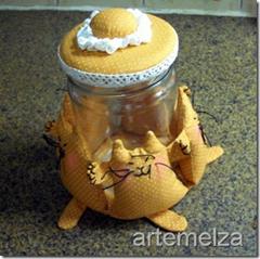 artemelza - enfeite para potes