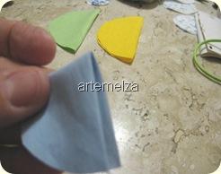 fuxico trançado triangular