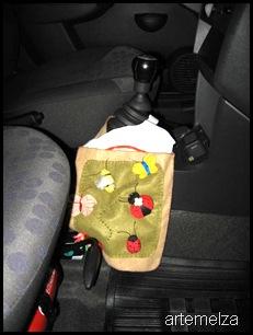 artemelza - lixeira de feltro para carro
