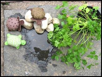 artemelza - tartaruga de fuxico e feltro
