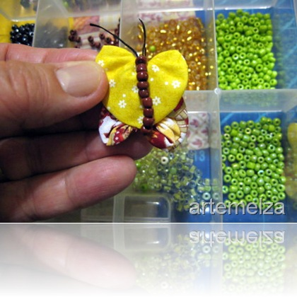 artemelza - borboleta de fuxico